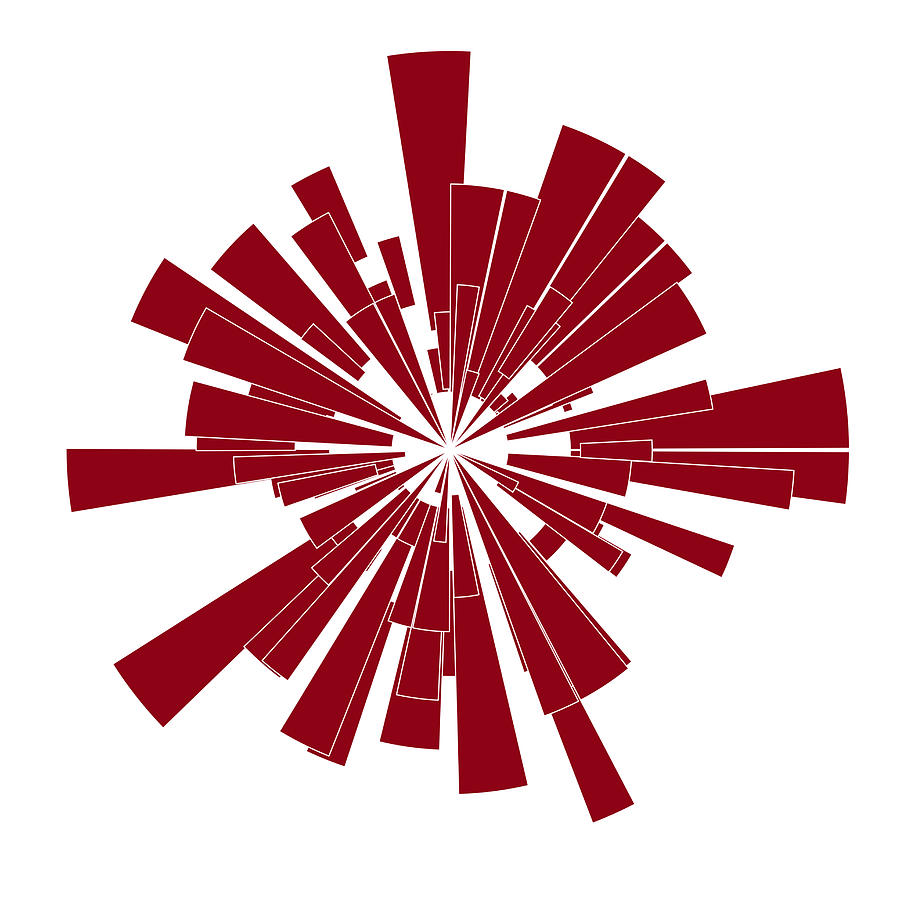 Frank Tschakert Painting - Red Shape by Frank Tschakert