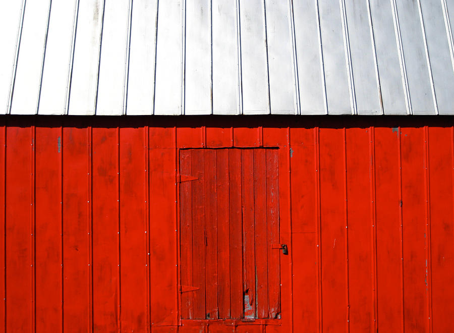 Red Photograph - Red Shed by Sheryl Burns