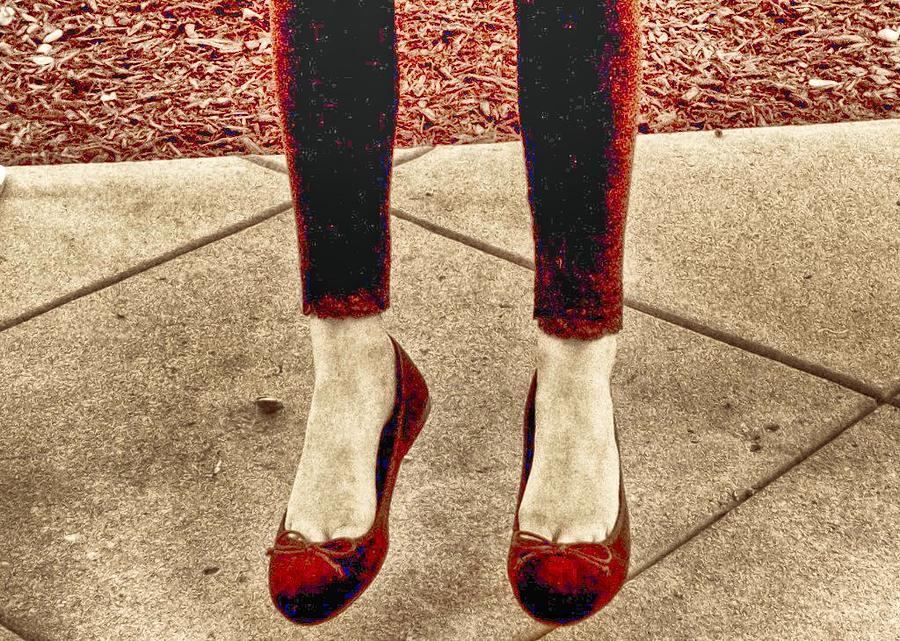Red Shoes Photograph