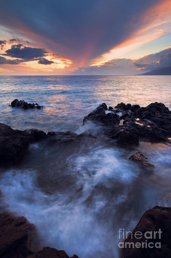 Red Sky Over Lanai Photograph  - Red Sky Over Lanai Fine Art Print