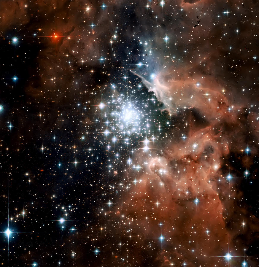 Red Smoke Star Cluster Photograph  - Red Smoke Star Cluster Fine Art Print