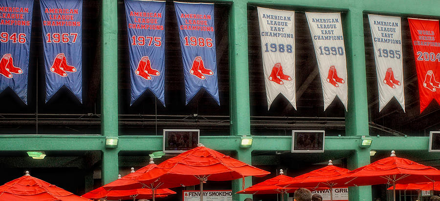 Red Sox Champion Banners Photograph By Joann Vitali