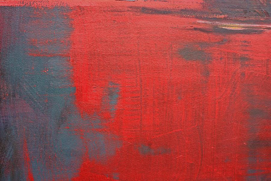 Abstract Painting - Red Square Dissected Viii  C2010 by Paul Ashby