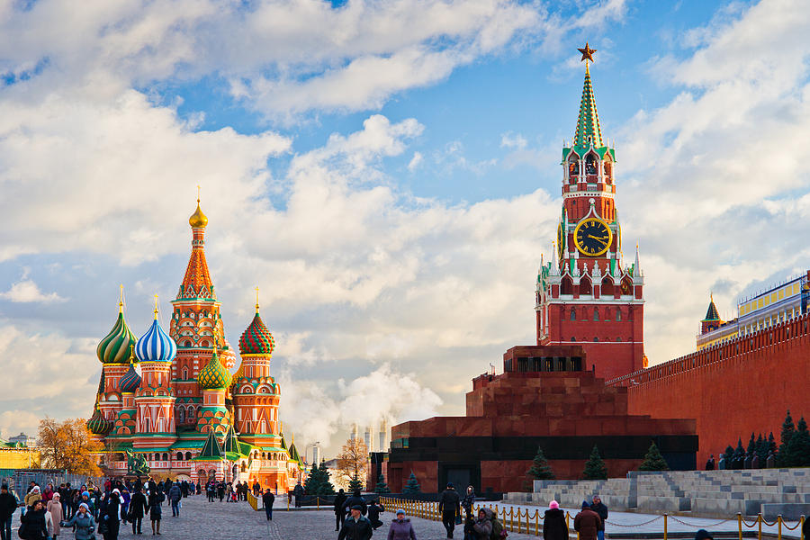 Red Square Of Moscow - Featured 3 Photograph
