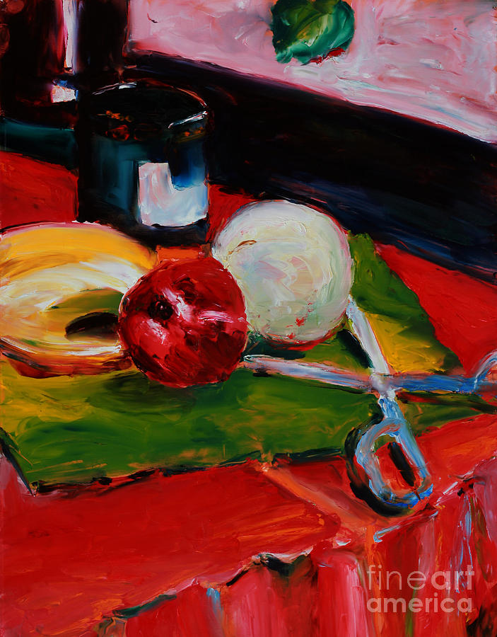 Red Still Life Painting  - Red Still Life Fine Art Print