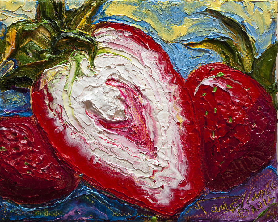 Red Strawberries Painting