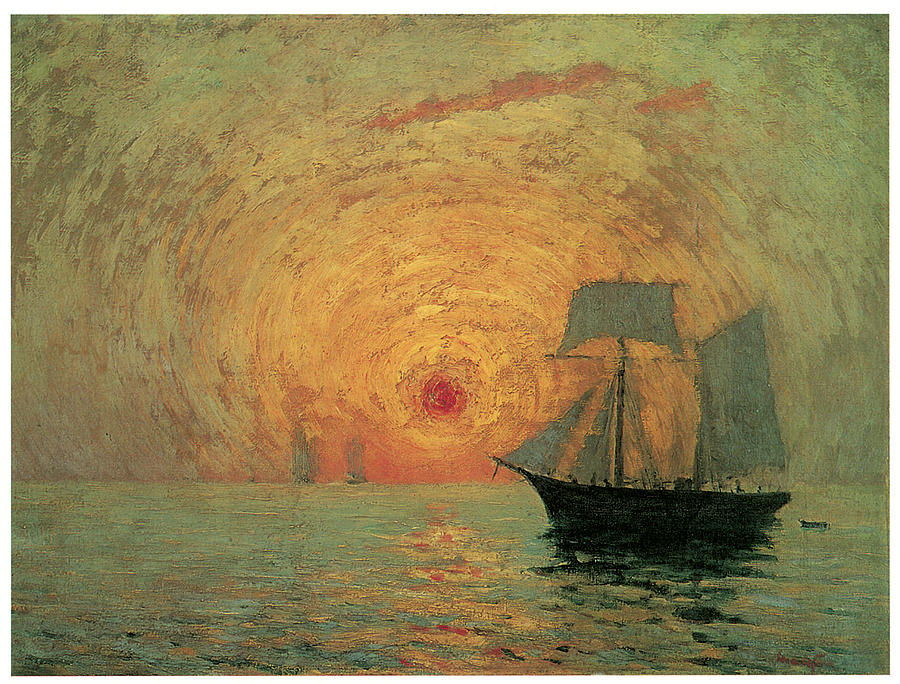 Red Sun Painting