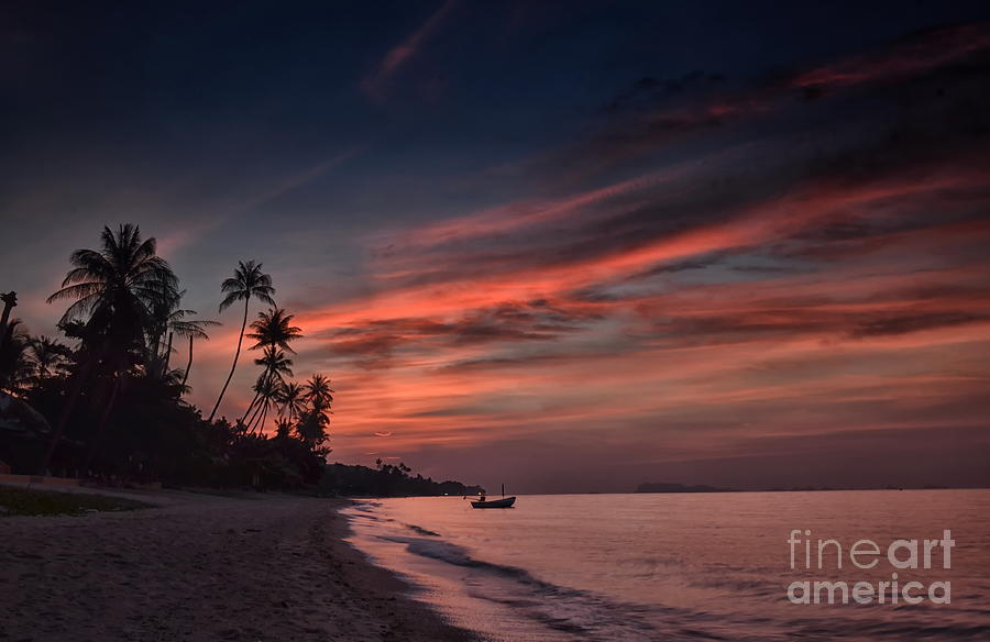 Red Sunset Photograph