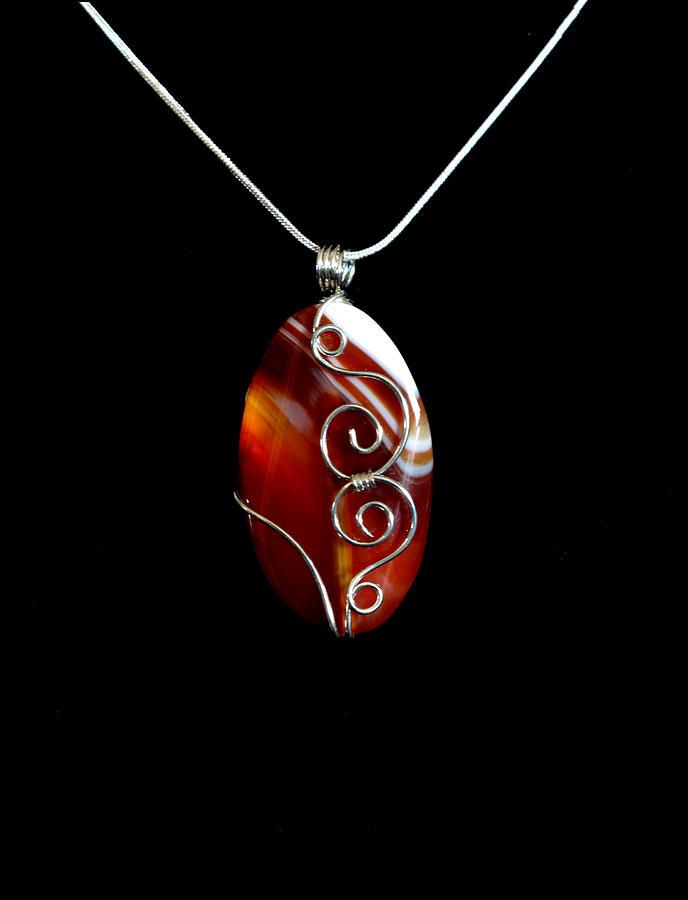 Red Swirl Agate Jewelry