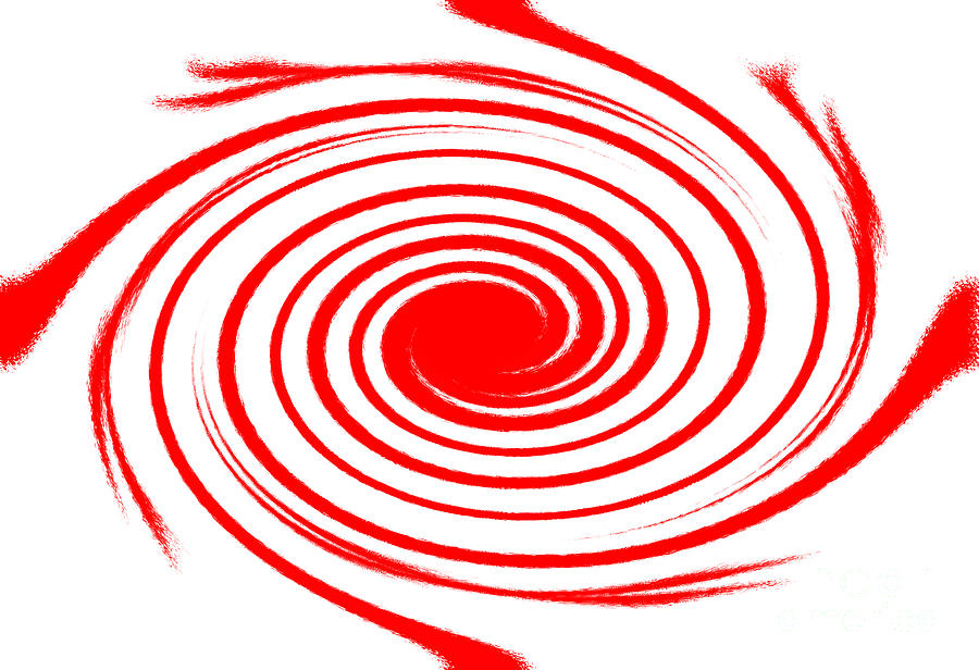Red Swirl War  Tapestry - Textile