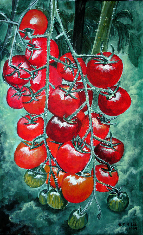 Red Tomatos Painting  - Red Tomatos Fine Art Print