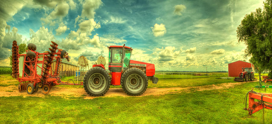 Red Tractor Farm Photograph