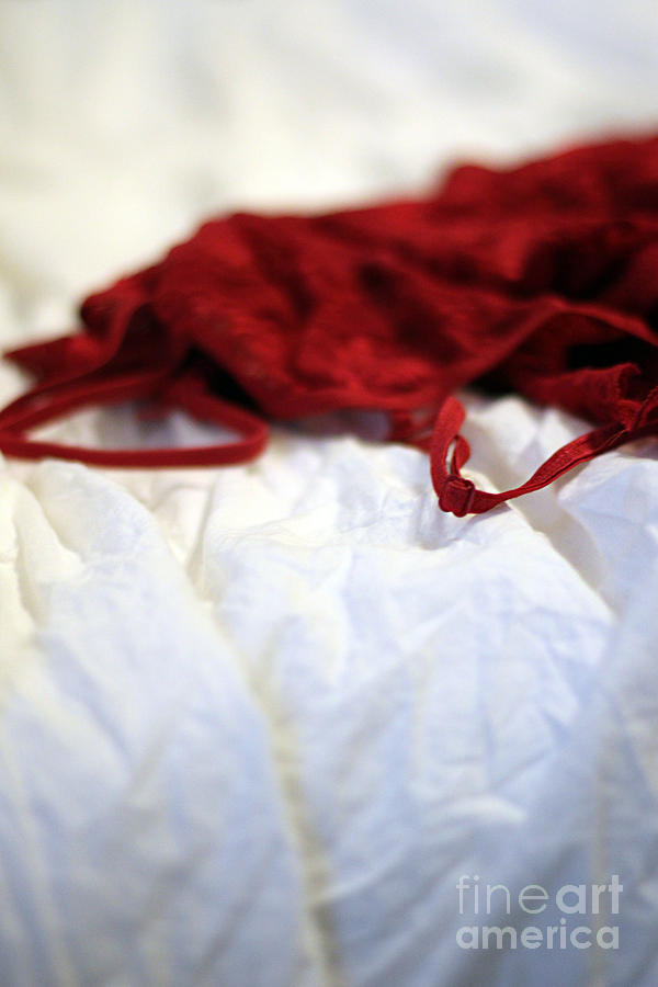 Lingerie Photograph - Red by Trish Mistric