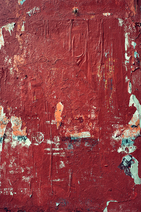 Red Wall Abstract Photograph  - Red Wall Abstract Fine Art Print