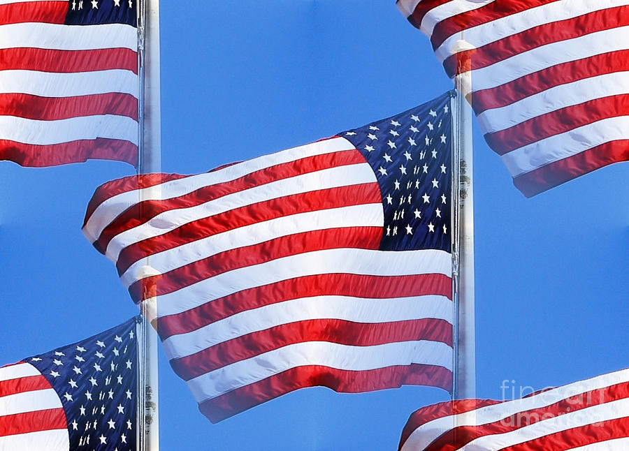 Red White And Blue Photograph
