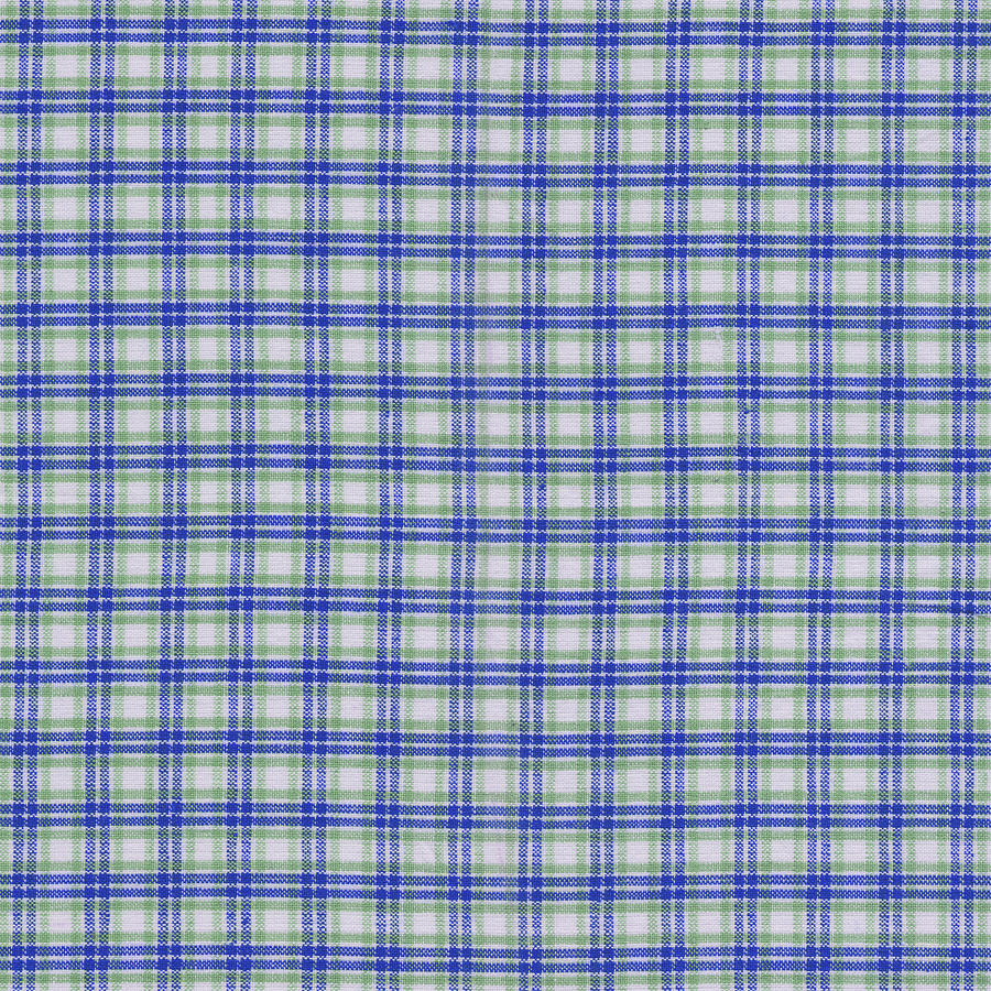 Red White And Blue Plaid Fabric Background Photograph By