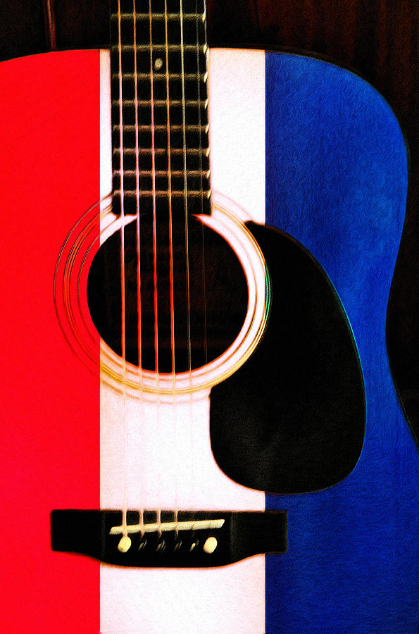 Red White And Blues Photograph  - Red White And Blues Fine Art Print