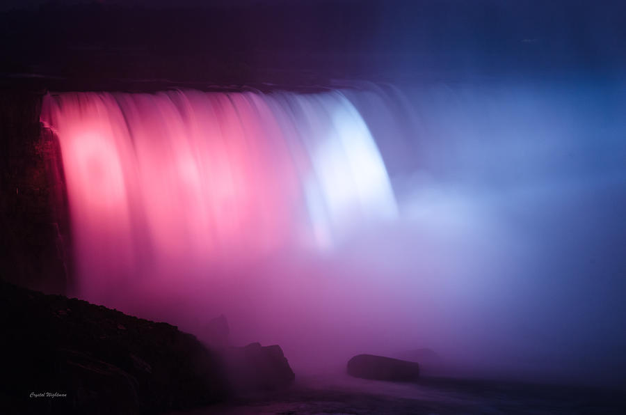 Red White Blue Horseshoe Falls Photograph