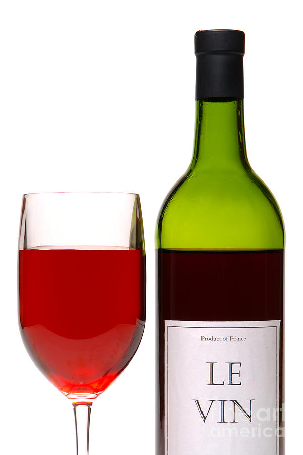 Red Wine And Bottle Photograph
