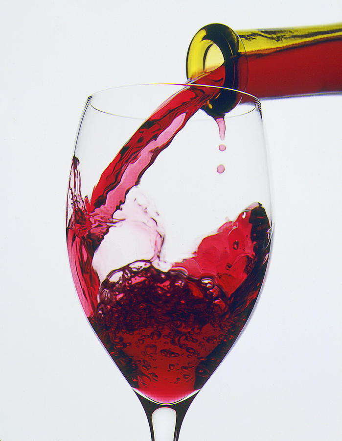 Red Wine Being Poured  Photograph