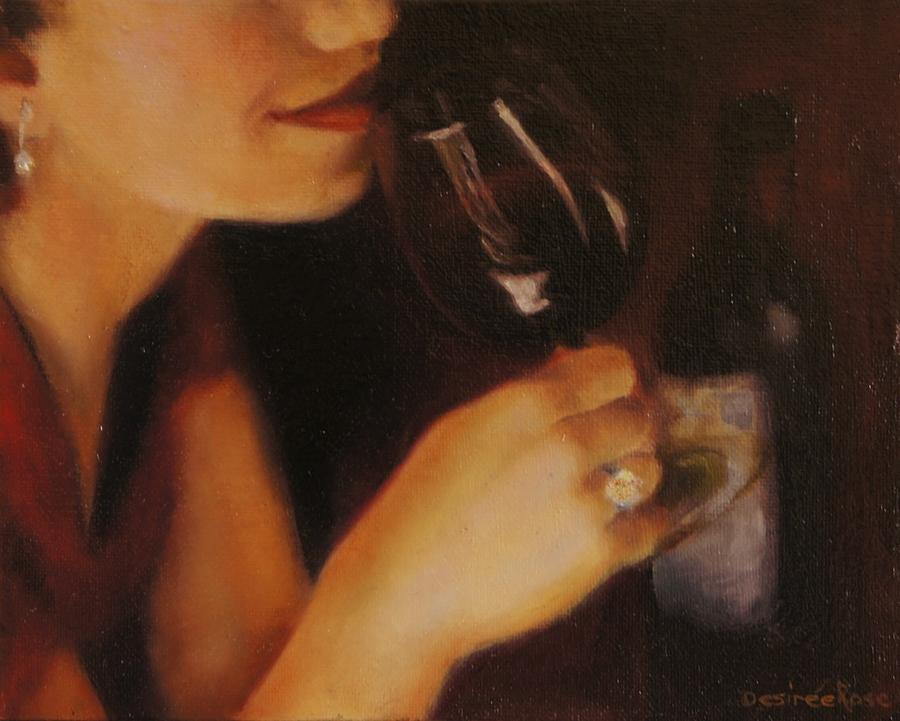 Red Wine Painting