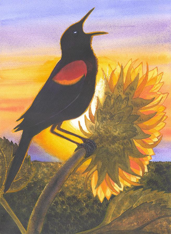 Bird Song Red Wing Blackbird 109