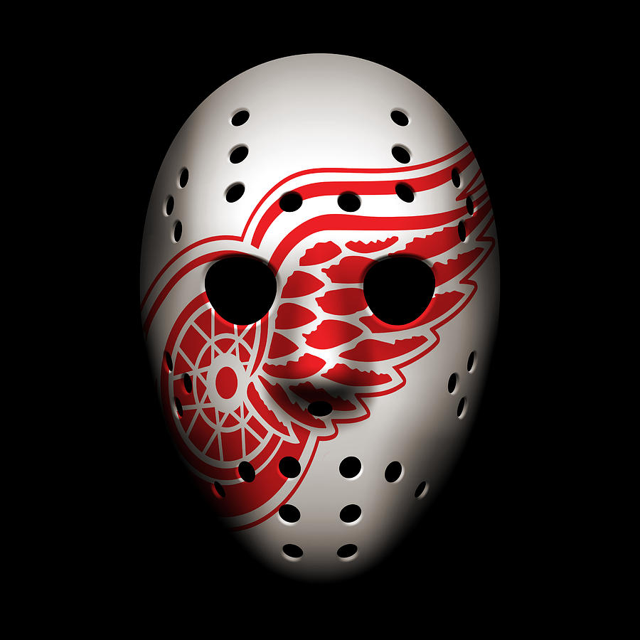 Case Design detroit red wings phone case Red Wings Photograph - Red Wings Goalie Mask by Joe Hamilton