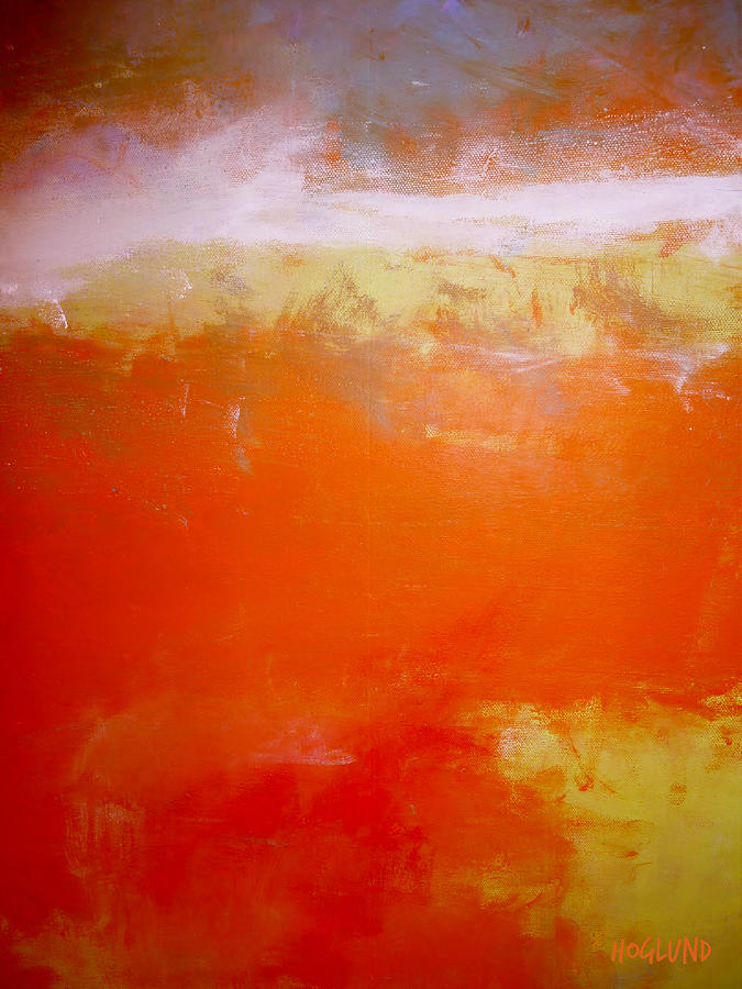 Abstract Orange  Painting - Redemption 8 by Dan Hoglund