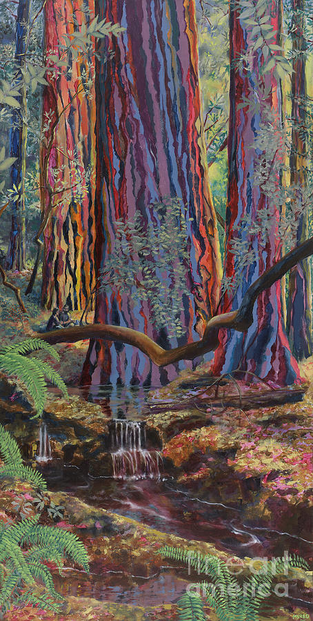 Redwood Picnic Painting  - Redwood Picnic Fine Art Print