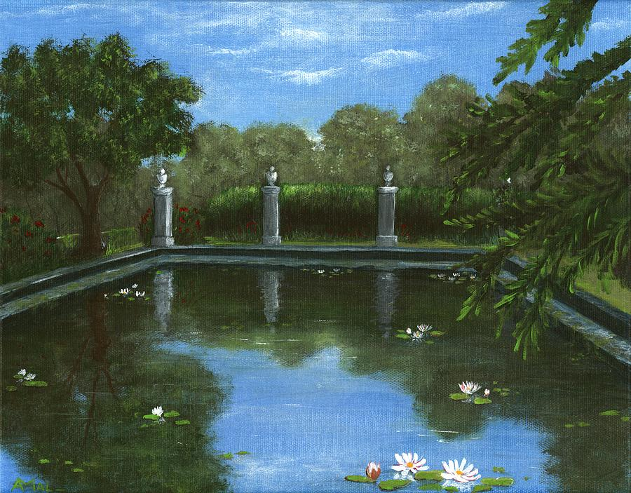 Reflecting Pool Painting  - Reflecting Pool Fine Art Print