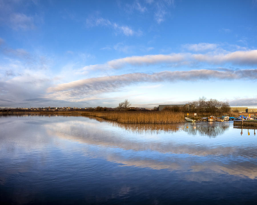 Galway Photograph - Reflecting Skies On The River Corrib In Galway by Mark E Tisdale