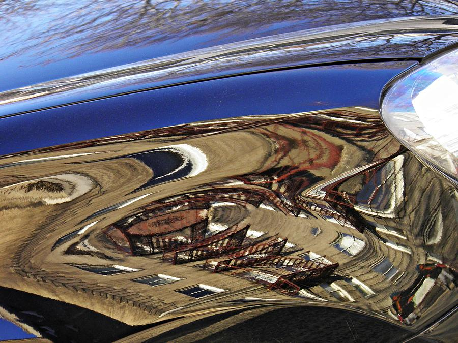 Reflection On A Parked Car 11 Photograph