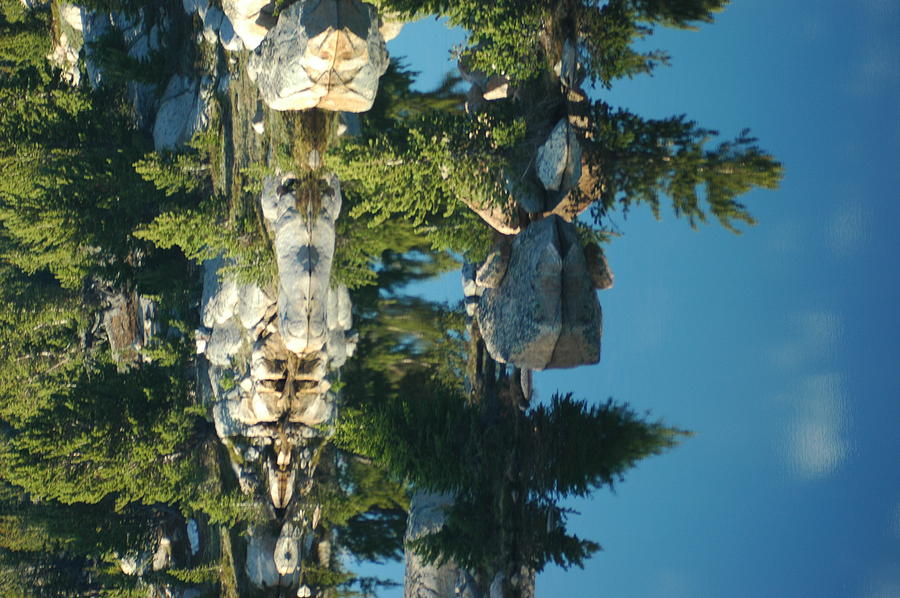 Wilderness Photograph - Reflections From Beartooth Highway by Larry Moloney