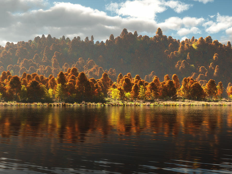 Reflections Of Autumn Digital Art