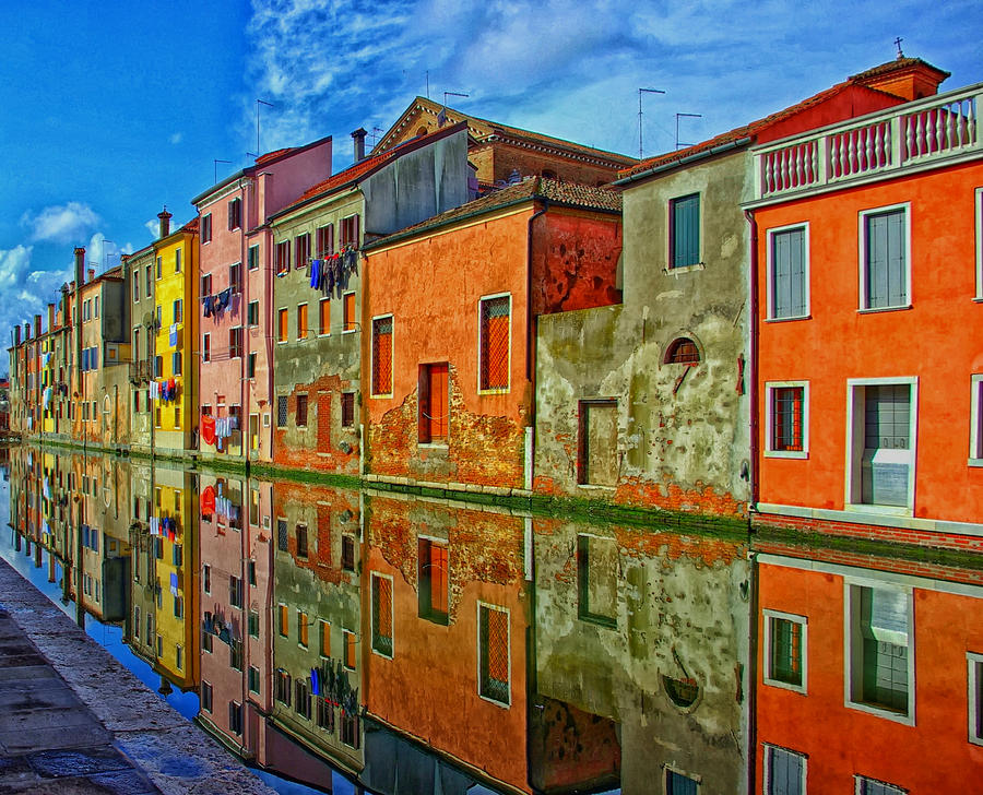 Chioggia Italy  City new picture : Reflections Of Colorful Chioggia Italy by Mountain Dreams