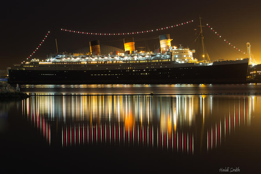 Reflections Of Queen Mary Photograph  - Reflections Of Queen Mary Fine Art Print