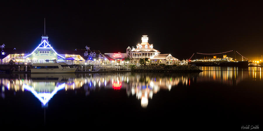 Reflections Of Rainbow Harbor Photograph