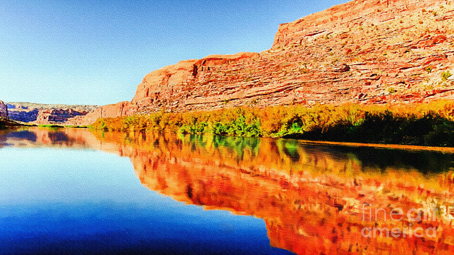 Reflections On The Colorado River Painting