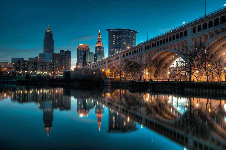 Reflections On The Cuyahoga Photograph  - Reflections On The Cuyahoga Fine Art Print