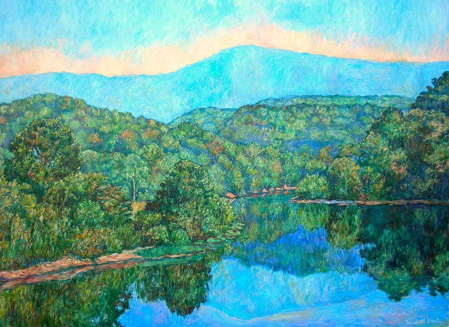 Mountainscape Painting - Reflections On The James River by Kendall Kessler