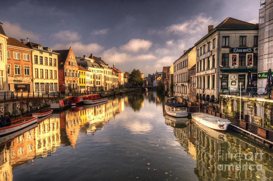 Reflections Over Ghent Photograph  - Reflections Over Ghent Fine Art Print