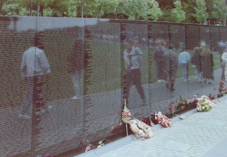 Reflections Vietnam Memorial Photograph