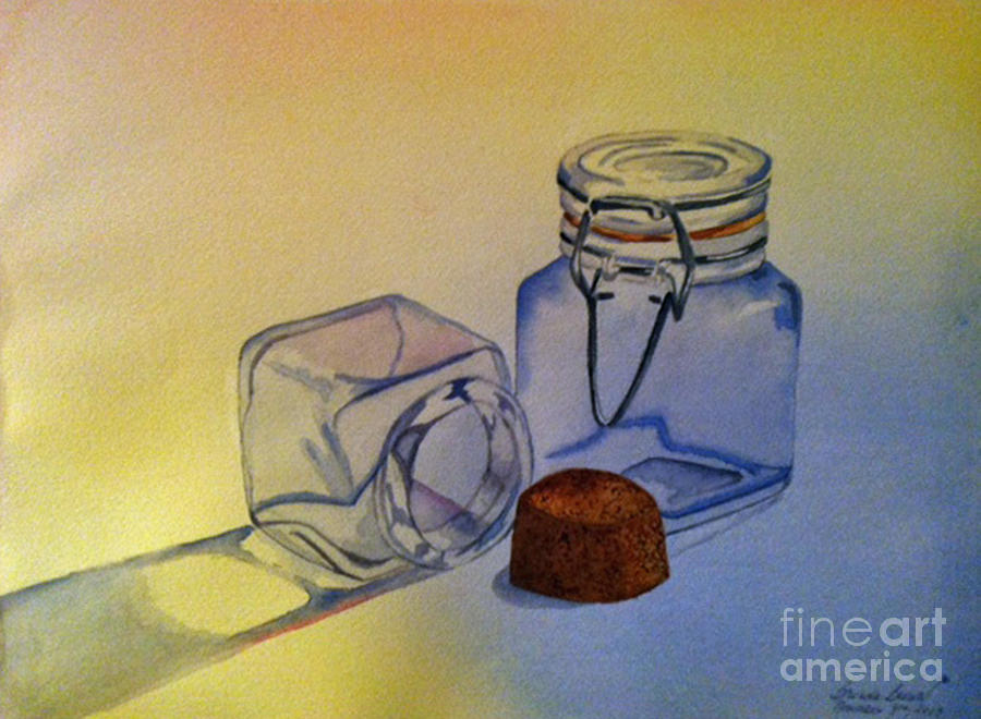 Reflective Still Life Jars Painting  - Reflective Still Life Jars Fine Art Print