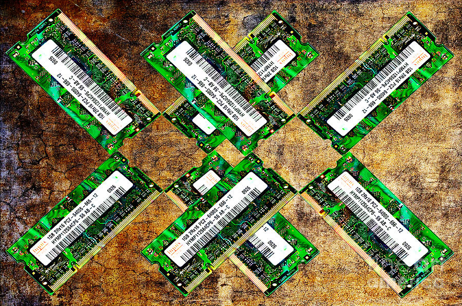 Refresh My Memory - Computer Memory Cards - Electronics - Abstract Photograph