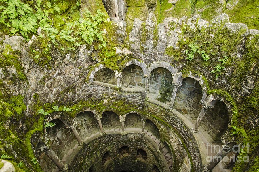 Sintra Photograph - Regaleira Initiation Well 2 by Deborah Smolinske