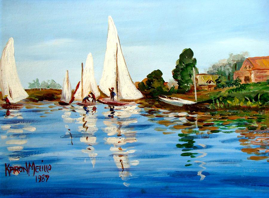 Art Painting - Regatta De Argenteuil by Karon Melillo DeVega