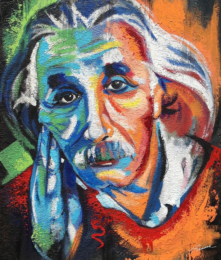 Albert Einstein Painting By Robert Busse