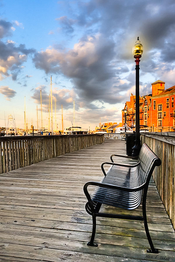 Boston Photograph - Relax And Watch The Sunset In Boston by Mark E Tisdale