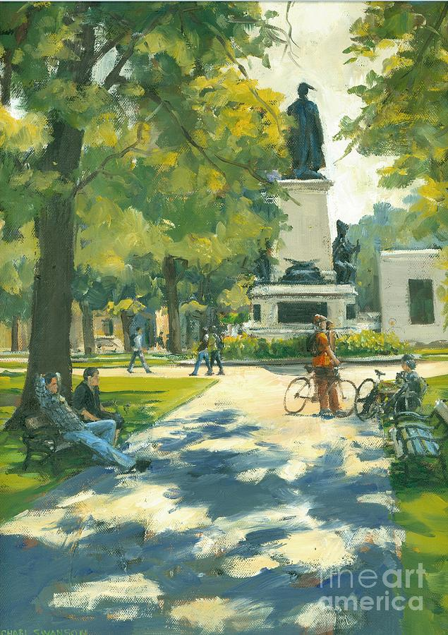 Victoria Park Painting - Relaxing by Michael Swanson