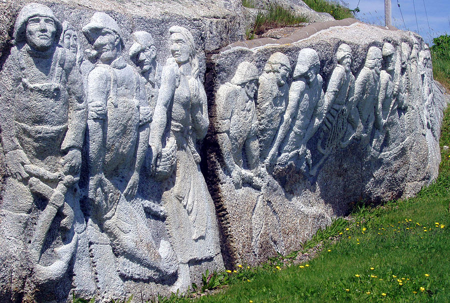 Relief Sculpture At Peggys Cove Photograph